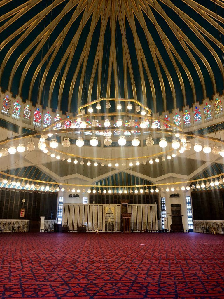 Interior Mezquita King Abdalah I, Amman