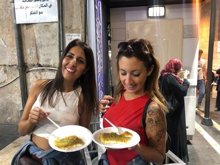 Kunafeh en Habibah Sweets, Amman