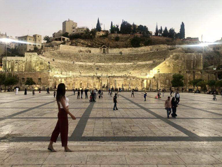 Anfiteatro en el Down town de Amman