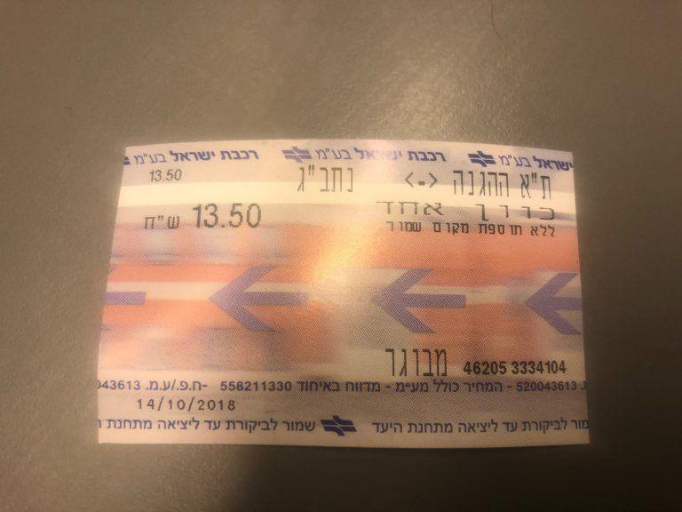 Ticket Tren Tel aviv