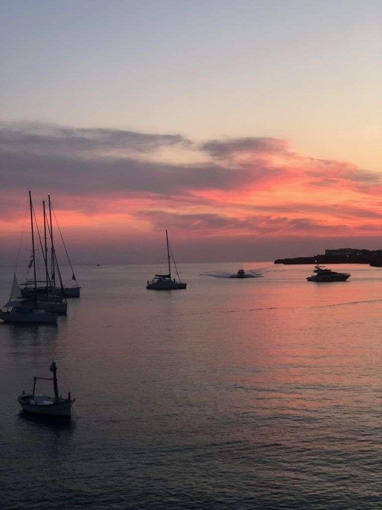 Atardecer de Ciudadela de Menorca