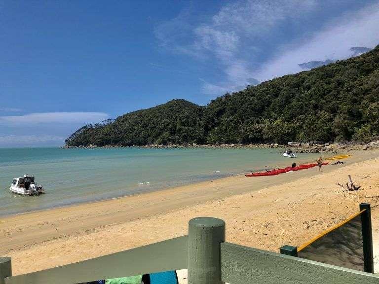 Merenderos en Bark Bay, Abel Tasman