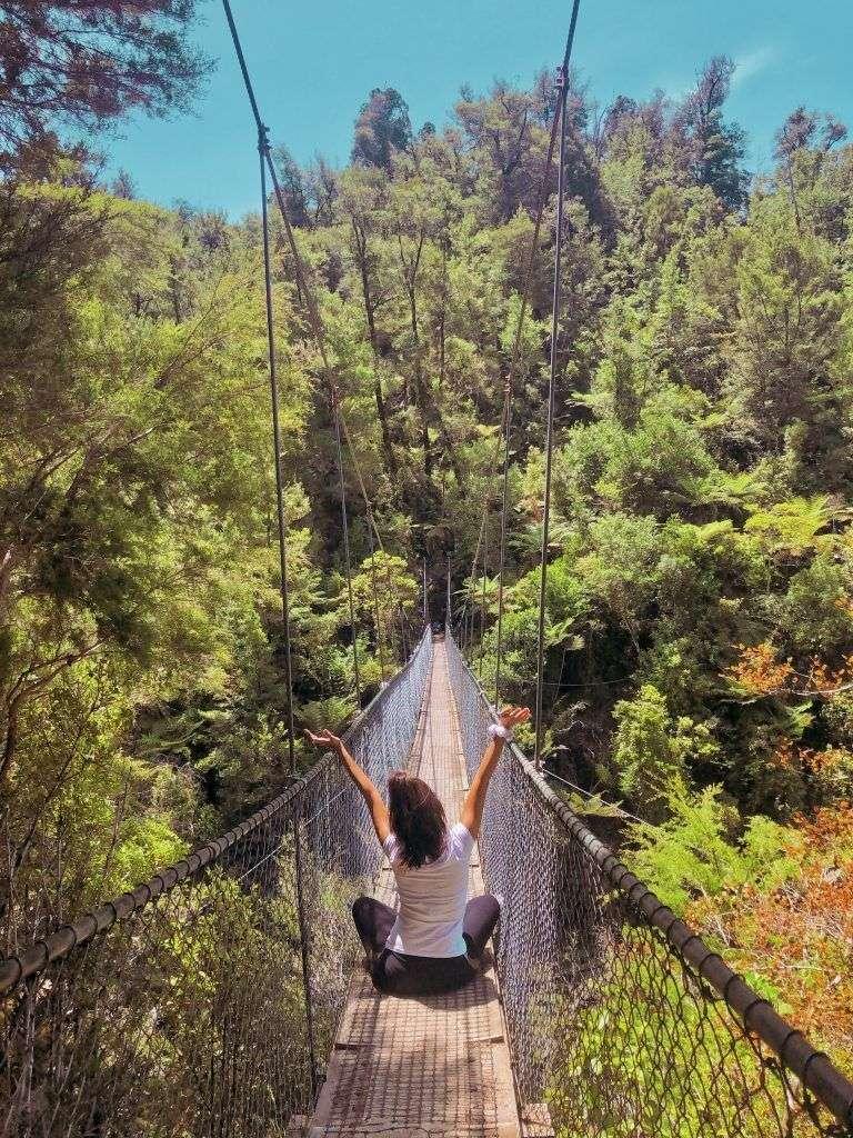 Puente colagante de Falls River, Abel Tasman