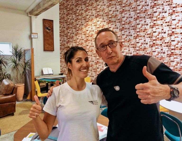 Yo y mi profesor Dave, el experto en IELTS de la escuela