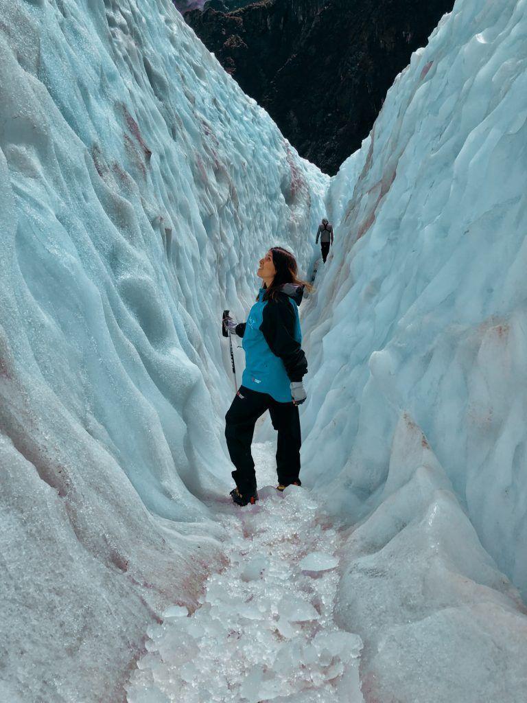 Muro de hielo en Fox Glacier