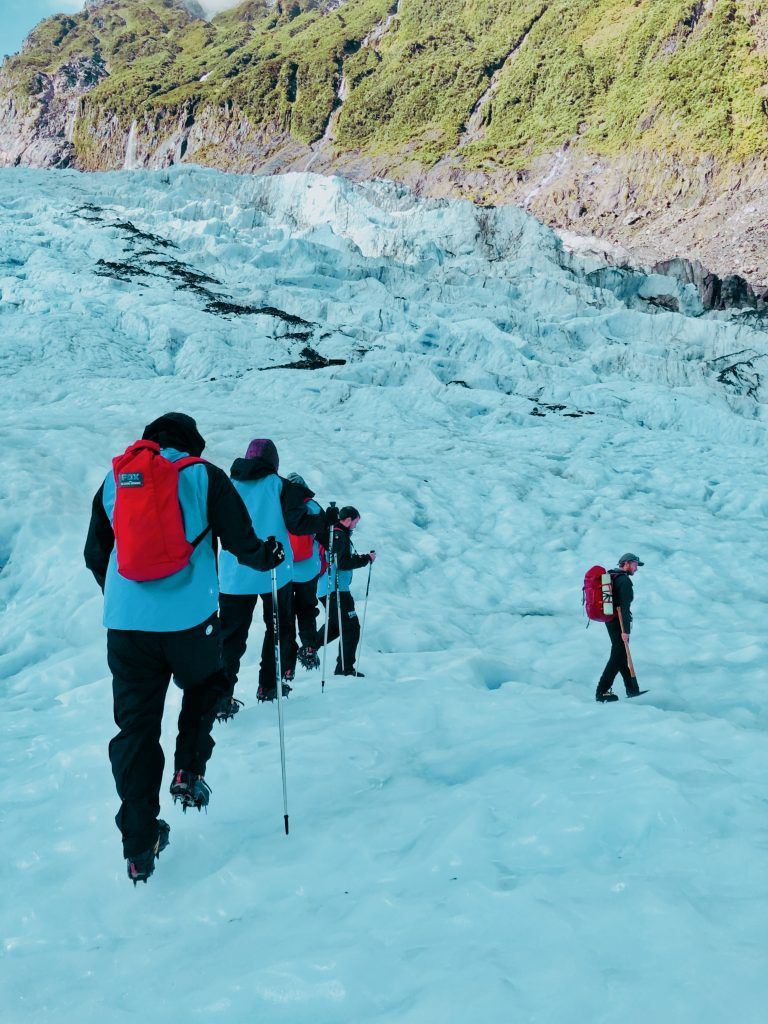 Track en Fox Glacier