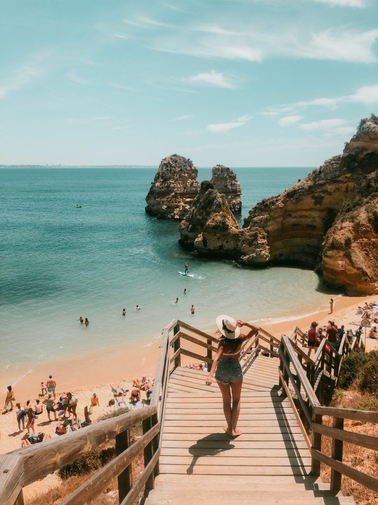 Vista de Praia do Camilo la bajada, una de las mejores playas del Algarve