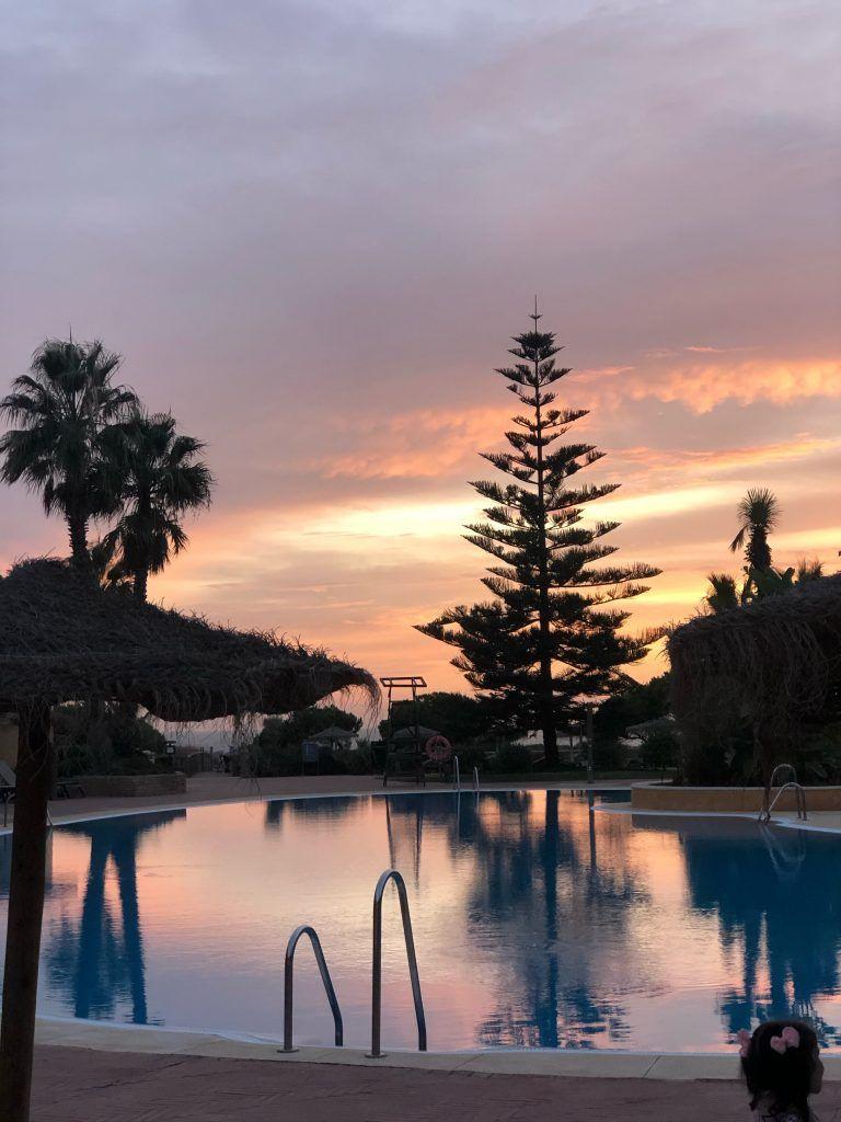 Atardecer en el hotel Barceló Punta Umbría Mar