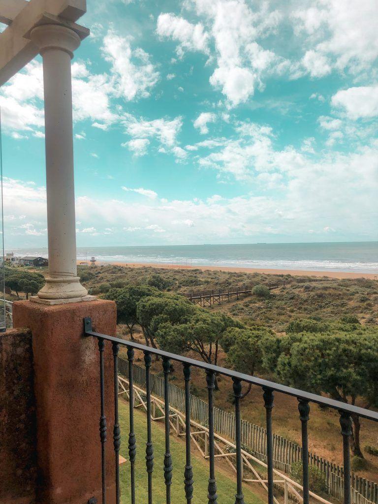 Vista del Parque Natural de Enebrales de Punta Umbría desde el hotel Barceló Punta Umbría Mar