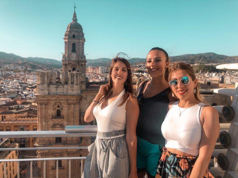 Vistas desde el Roof Top Ac Palacio Málaga