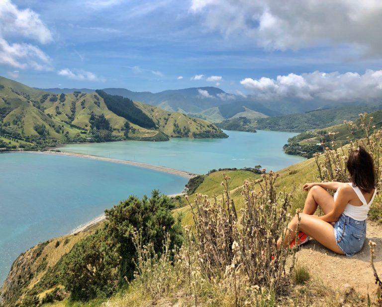 Cabel Bay, Nelson, Nueva Zelanda. Inicio de la ruta de 15 días por la isla sur