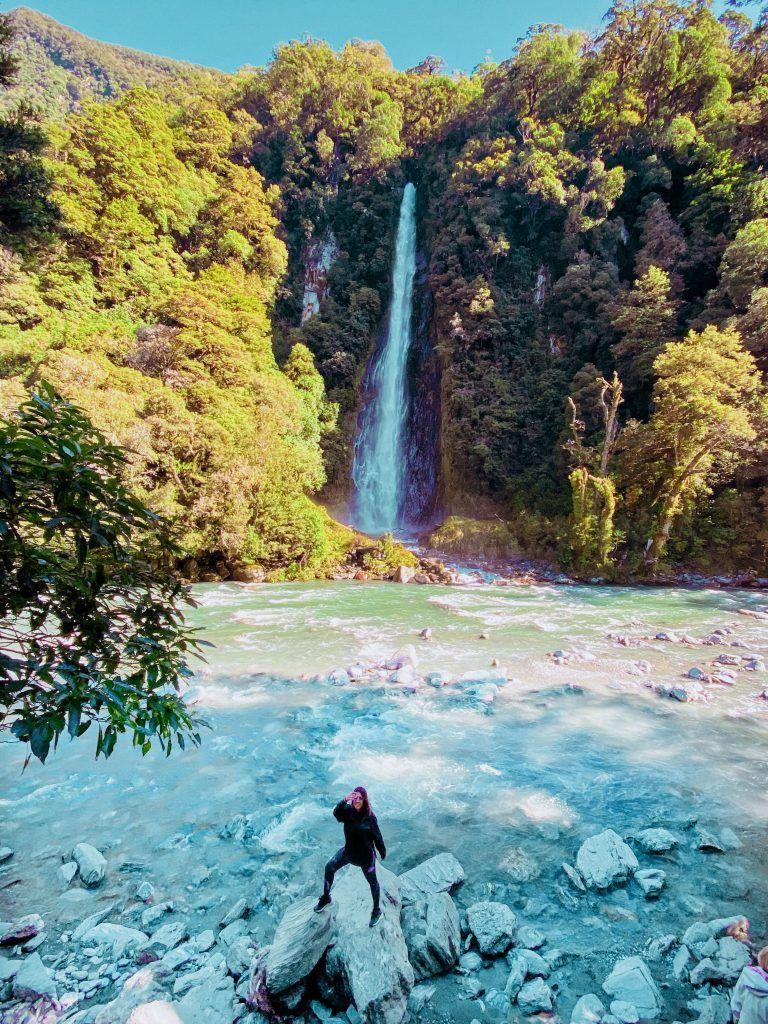 Thunder Creek Falls, ruta de 15 días por la isla sur de Nueva Zelanda