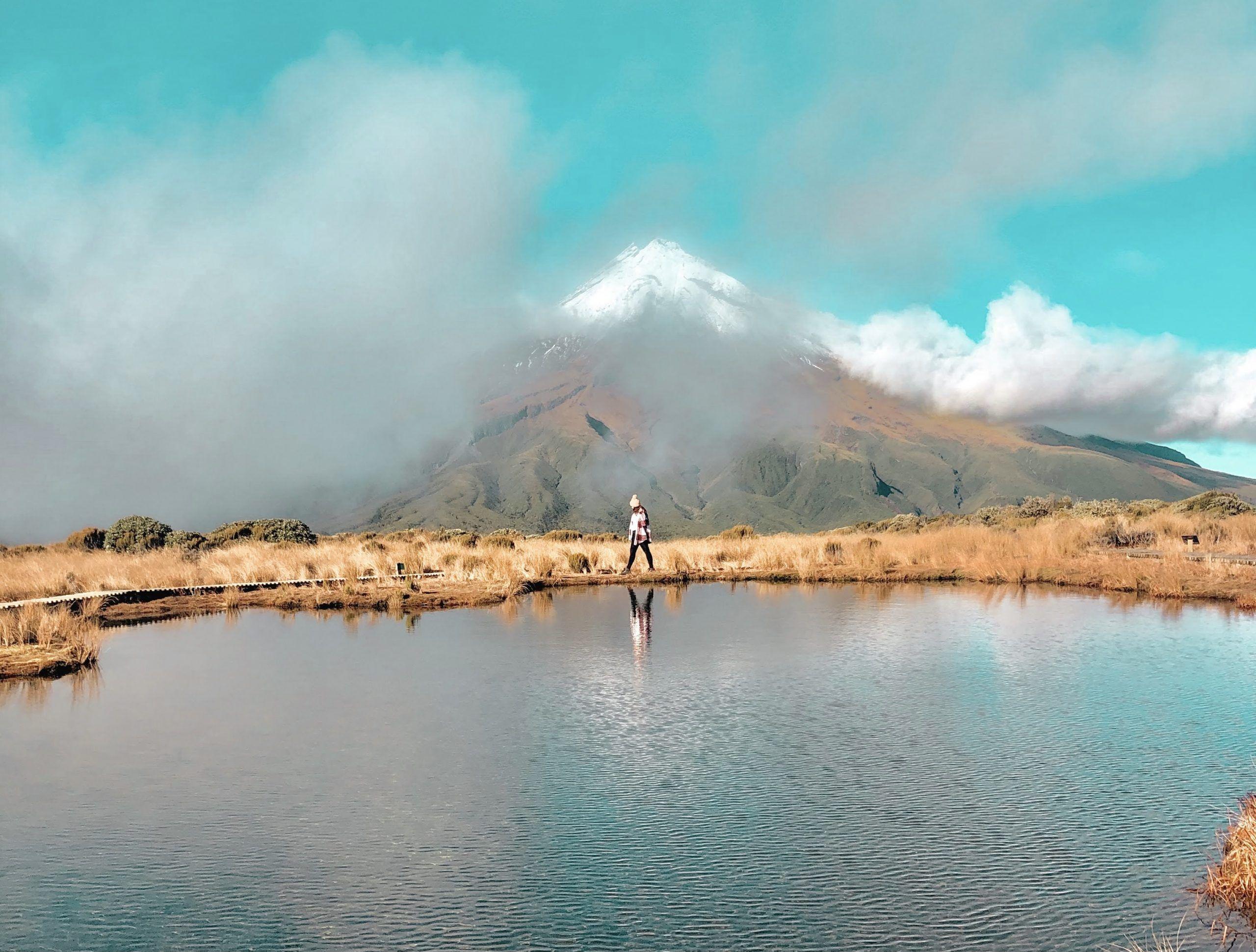 Cómo llegar al lago del  reflejo de Taranaki