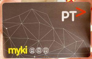 Myki card, Tarjeta de transporte de Melbourne