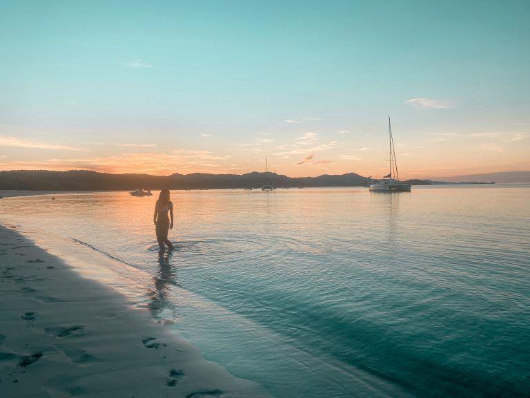 Viajar por Australia en autobús - Whiteheaven Beach, Whitsunday Islands